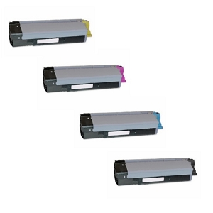 4 Pack Okidata  CX2032 MFP Laser Toner Cartridges
