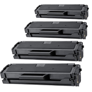 4 Pack Samsung MLT-D101S Black Laser Toner Cartridge ML-2160, ML-2165, SCX-3400, SCX-3405, SF-760