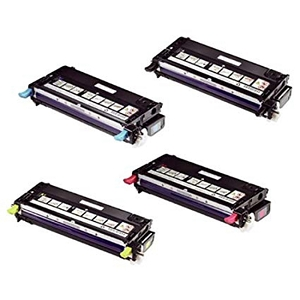 4 Pack Dell 3130CN High Yield Laser Toner Cartridges