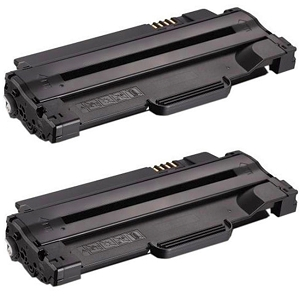 2 Pack Dell 1130 330-9523 7H53W Black Laser Toner Cartridge 1130N, 1133, 1135N