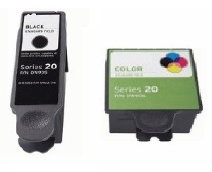 2 Dell DW905  Black & DW906 Color Compatible Ink Cartridges Combo For Dell P703w