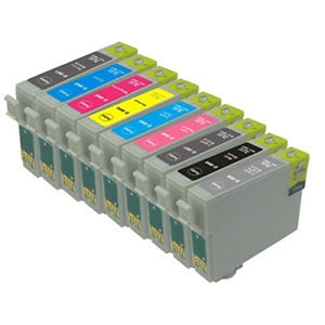 9 Pack Epson T096 Stylus Photo R2880 Inkjet Cartridges