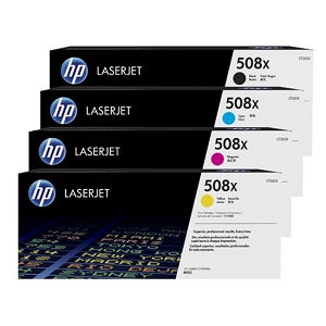 4 Pack Brand New Original HP 508X High Yield Laser Toner Cartridge Color LaserJet Enterprise MFP M577, M533, M552, M553