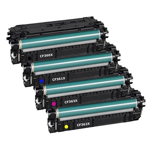 4 Pack HP 508X High Yield Laser Toner Cartridge Color LaserJet Enterprise MFP M577, M533, M552, M553