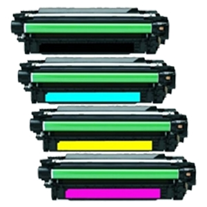 4 Pack HP 646A 646X Color LaserJet Enterprise CM4540, CM4540f, CM4540fskm MFP Laser Toner Cartridges