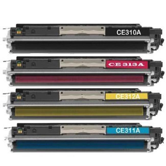 Excellent Print 126A CE310A CE311A CE312A CE313A Compatible Cartouches de Toner pour HP Colour Laserjet Pro CP1025NW CP1020 M175A M175NW