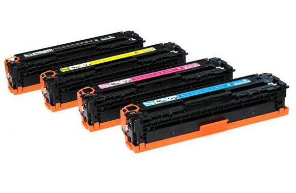 4 Pack HP 128A Color LaserJet CP1525nw, Pro CM1415fnw, Pro CP1525nw Laser Toner Cartridges