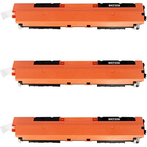 3 Pack HP 130A CF350A Black Laser Toner Cartridge Color LaserJet Pro MFP M176N, M177FW, M177FX