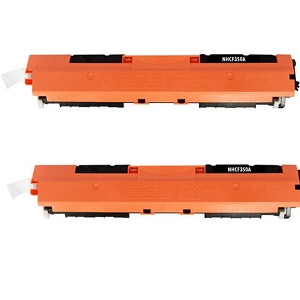 2 Pack HP 130A CF350A Black Laser Toner Cartridge Color LaserJet Pro MFP M176N, M177FW, M177FX