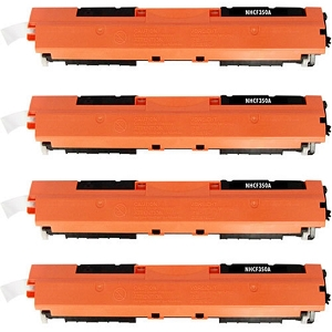 4 Pack HP 130A CF350A Black Laser Toner Cartridge Color LaserJet Pro MFP M176N, M177FW, M177FX