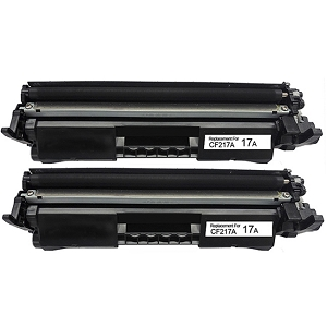 2 Pack HP 17A CF217A Black Laser Toner Cartridge with Chip LaserJet Pro M102, M130, M130NW