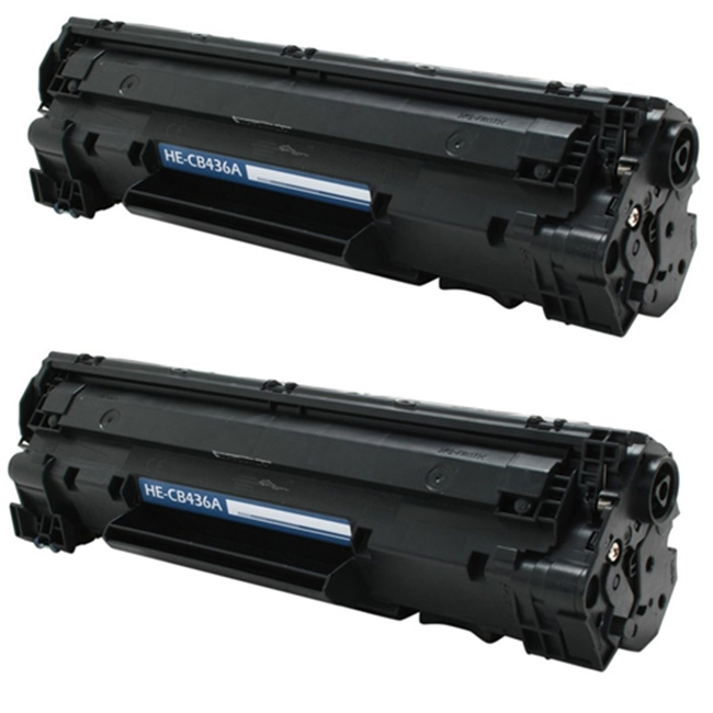 2PK CB436A Black Toner Cartridge For HP 36A LaserJet P1505 P1505N M1522N M1522NF