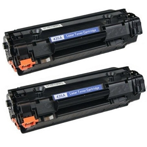 2 Pack HP 35A CB435A Black Laser Toner Cartridge LaserJet P1002, P1005, P1006, P1007, P1008