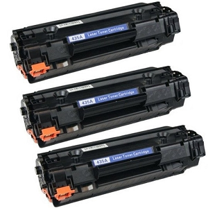 3 Pack HP 35A CB435A Black Laser Toner Cartridge LaserJet P1002, P1005, P1006, P1007, P1008