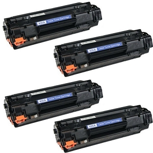 4 Pack HP 35A CB435A Black Laser Toner Cartridge LaserJet P1002, P1005, P1006, P1007, P1008