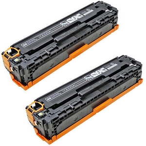 2 Pack HP 128A CE320A Black Laser Toner Cartridge Color LaserJet CP1525nw, Pro CM1415fnw, Pro CP1525nw