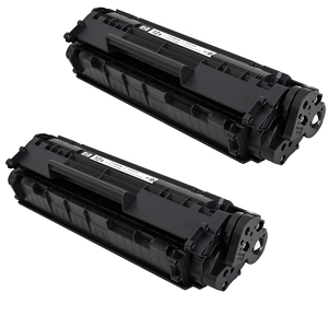 2 Pack HP 12A Q2612A Black Laser Toner Cartridge LaserJet 1010, 1012, 1018, 1020, 1022, 3015, 3020, 3030, 3050, 3052, 3055, M1319
