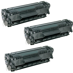 3 Pack HP 12X Q2612X Black High Yield Laser Toner Cartridge LaserJet 1010, 1012, 1018, 1020, 1022, 3015, 3020, 3030, 3050, 3052, 3055, M1319