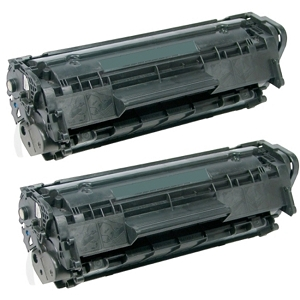 2 Pack HP 12X Q2612X Black High Yield Laser Toner Cartridge LaserJet 1010, 1012, 1018, 1020, 1022, 3015, 3020, 3030, 3050, 3052, 3055, M1319
