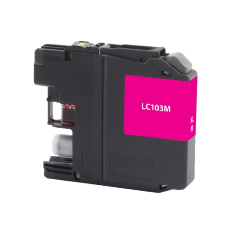 Brother LC103 LC103M LC101M Magenta Remanufactured High Yield Ink Cartridge DCP-J152W