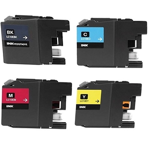 4 Pack Brother LC10E MFC-J6925DW Compatible Extra High Yield Ink Cartridges
