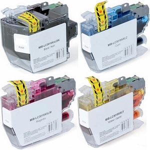 4 Pack Brother LC3019 MFC-J6530DW, J5330DW, J6730DW, J6930DW Extra High Yield Ink Cartridges
