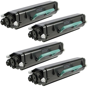 4 Pack Lexmark E260A21A E260A11A Compatible Black Laser Toner Cartridge E260, E360, E460