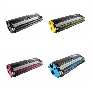 4 Pack Konica Minolta 1710517 MagiColor 2300, 2300DL, 2300W, 2350EN High Yield Laser Toner Cartridges