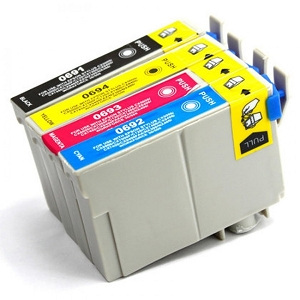 4 Pack Epson T069 Stylus C120, NX510, WorkForce 40, WorkForce 1100 Inkjet Cartridges