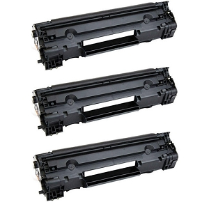 3 Pack HP 83A CF283A Black Laser Toner Cartridge LaserJet Pro M201, M125, M127, M225