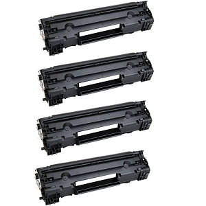 4 Pack HP 83A CF283A Black Laser Toner Cartridge LaserJet Pro M201, M125, M127, M225