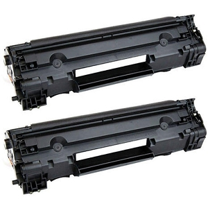 2 Pack HP 83A CF283A Black Laser Toner Cartridge LaserJet Pro M201, M125, M127, M225