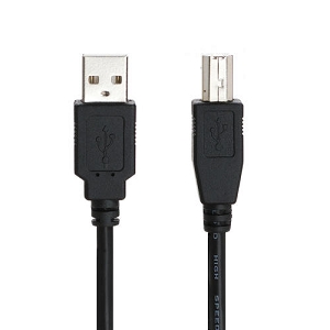 High Quality USB 2.0 A Male to B Male 28/24AWG Cable - 10ft