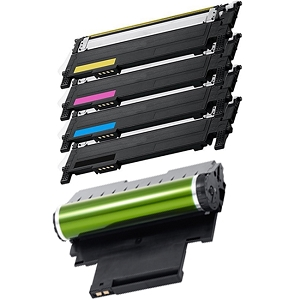 5 Pack Samsung CLT-406S CLT-R406 Laser Toner Cartridges and Drum / Imaging Unit