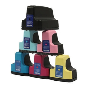 6 Pack HP 02 PhotoSmart 3110, 3210, 3310, 8250, C5100, C7200, D7100, D7400 Inkjet Cartridges