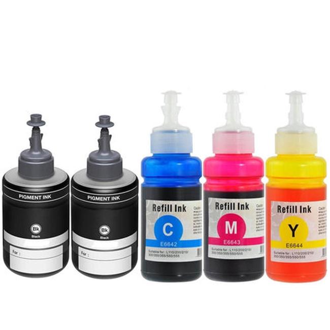 5 Pack Epson T774 Black T664 BK/C/M/Y ET-3600 ET-16500 ET-4550 Ink  Cartridges