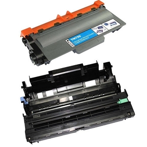 2 Pack Brother TN750 DR720 Laser Toner Cartridge and High Yield Drum Unit