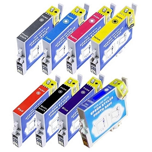 8 Pack Epson T054 Stylus Photo R1800, Stylus Photo R800 Inkjet Cartridges