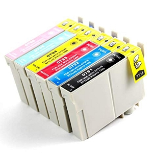 6 Pack Epson 79 T079 Artisan 1430, Stylus Photo R1400 Inkjet Cartridges
