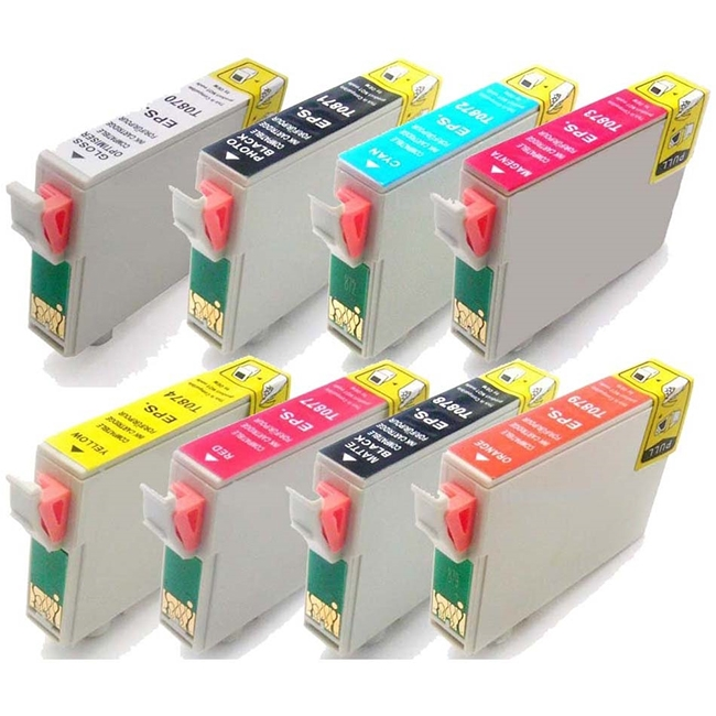 8 Pack Epson T087 Stylus Photo R1900 Inkjet Cartridges