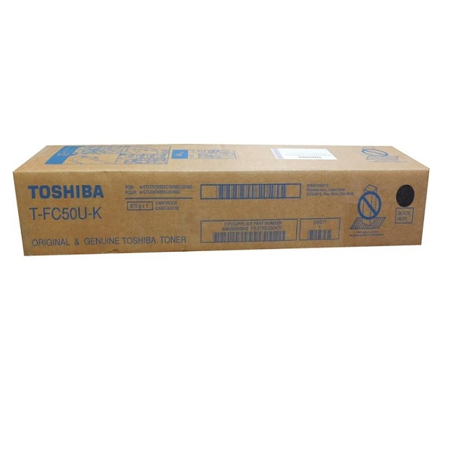 Brand New Original Toshiba TFC50UK Black Laser Toner Cartridge e-Studio 2555C, 3055C, 3555C, 4555C, 5055C