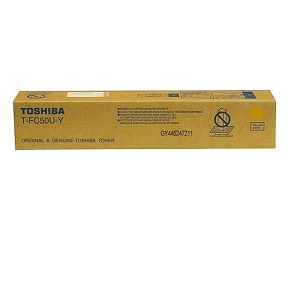 Brand New Original Toshiba TFC50UY Yellow Laser Toner Cartridge e-Studio 2555C, 3055C, 3555C, 4555C, 5055C