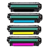 4 Pack HP 507X LaserJet Enterprise 500 Color M551, MFP M575, M570dn Compatible High Yield Toner Cartridges