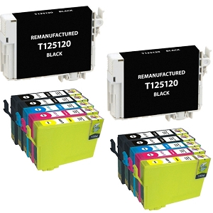 10 Pack Epson T125 T125120 T125220 T125320 T125420 Inkjet Cartridges