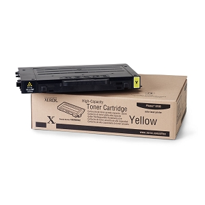 Brand New Original Xerox 106R00682 High Capacity Yellow Phaser 6100 Compatible Laser Toner Cartridge