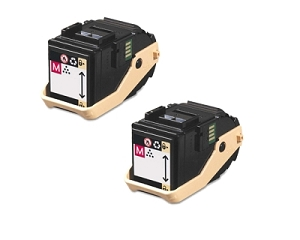 2 Pack Xerox 106R02603 106R02600 Magenta Compatible Toner Cartridge Phaser 7100