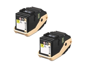 2 Pack Xerox 106R02604 106R02601 Yellow Compatible Toner Cartridge Phaser 7100