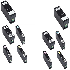 10 Pack Dell Series 31 32 33 34 V525W V725W  Extra High Yield Inkjet Cartridge