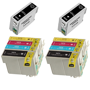 10 Pack Epson T127 T127120 T127220 T127320 T127420 High Yield Inkjet Cartridges