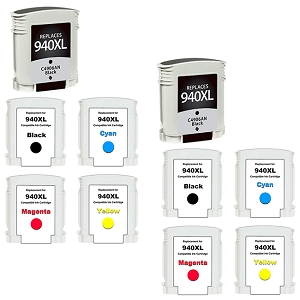 10 Pack HP 940XL OfficeJet Pro 8000, 8500, 8500A Inkjet Cartridges
